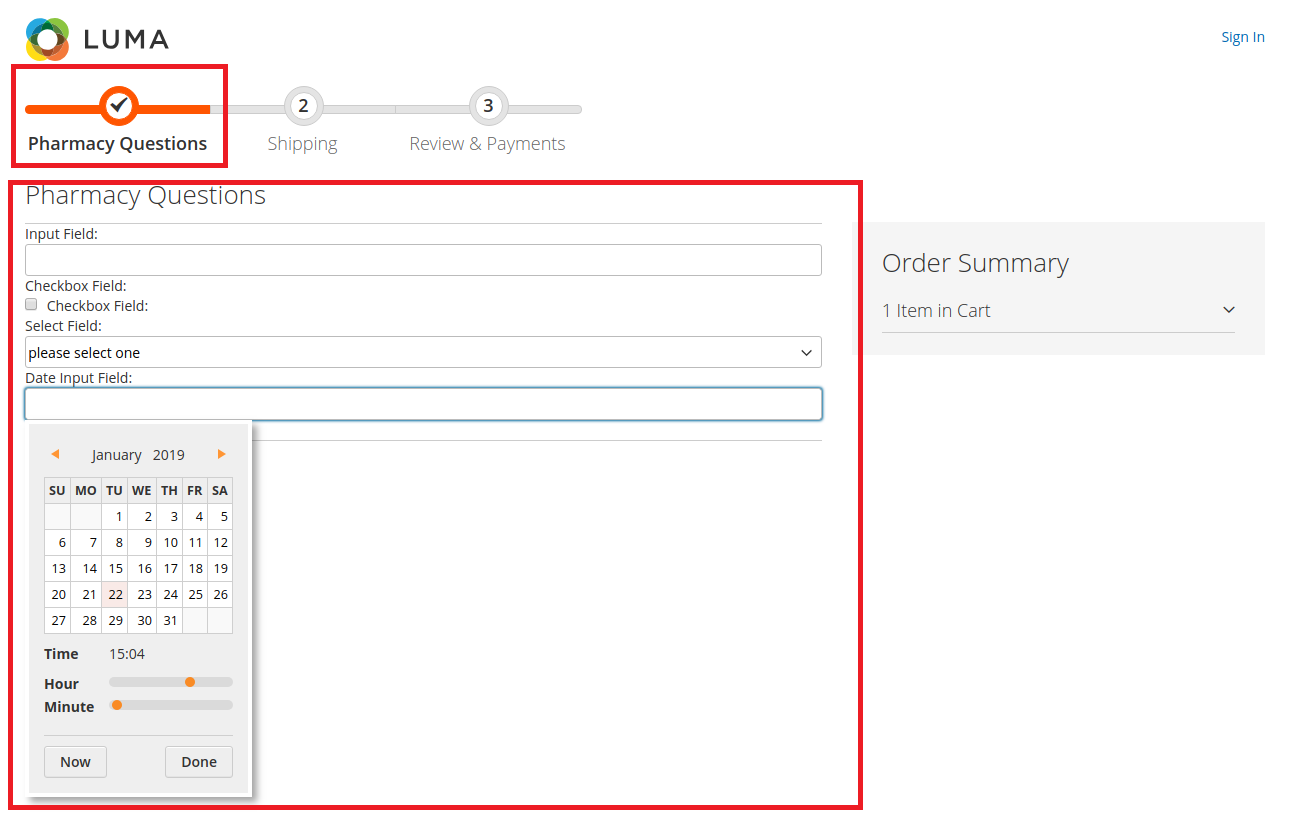 custom linked product